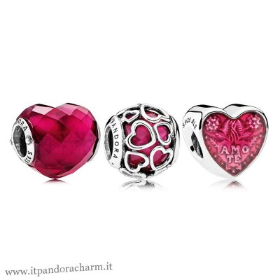 Pandora Originale Fortunato In Amore Fucsia Fascino Pack