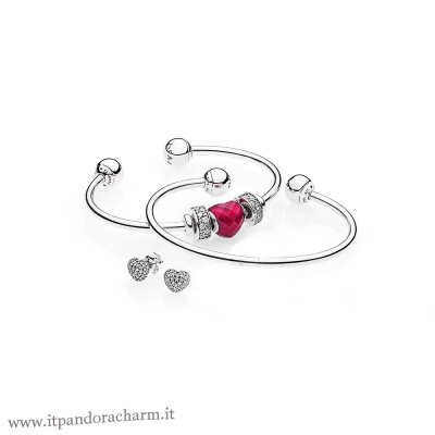 Pandora Originale Be Mine Stacked Open Bangle Regalo