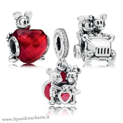 Pandora Originale Disney Mickey Pacchetto Charm Amore E Minnie