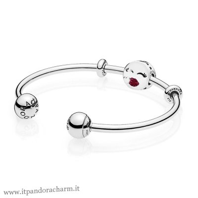 Pandora Originale Cute Bacio Open Bangle Regalo