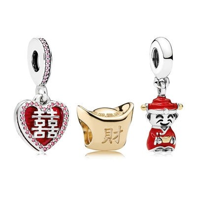 Pandora Originale Happiness Fortune And Luck Charm Pack